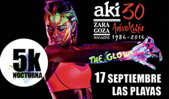 The Glow Run en el 30 Aniversario de Aki Zaragoza